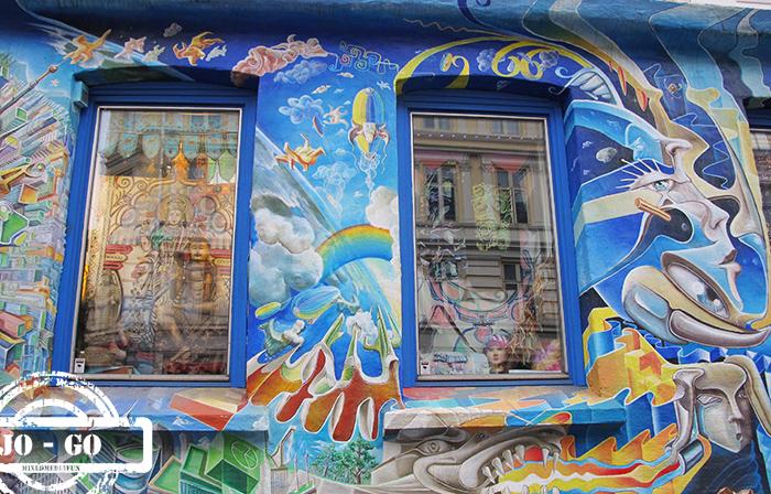Mixed media fun oslo graffiti mural art for Mural hidupan laut