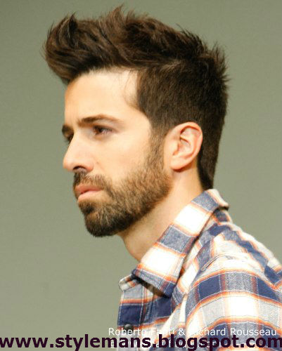 Young Man Attractive Hair Cut Mans Latest Fashion Style