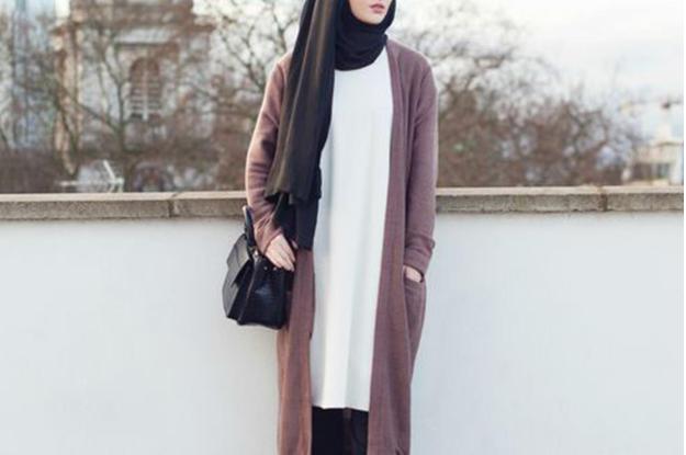 long cardigan gaya muslimah dari zalora