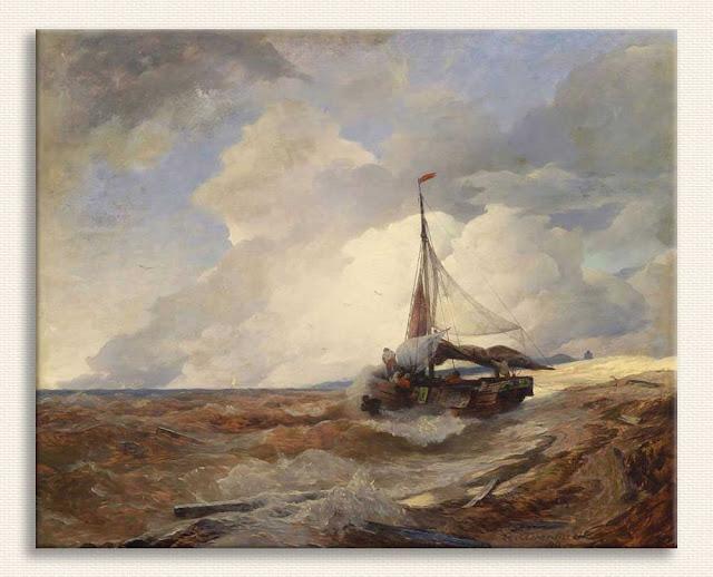 Andreas Achenbach, Balıkçı Teknesi tablosu