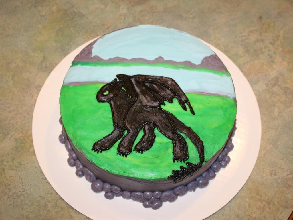 Party Cakes Quot Night Fury Quot Dragon Birthday Cake