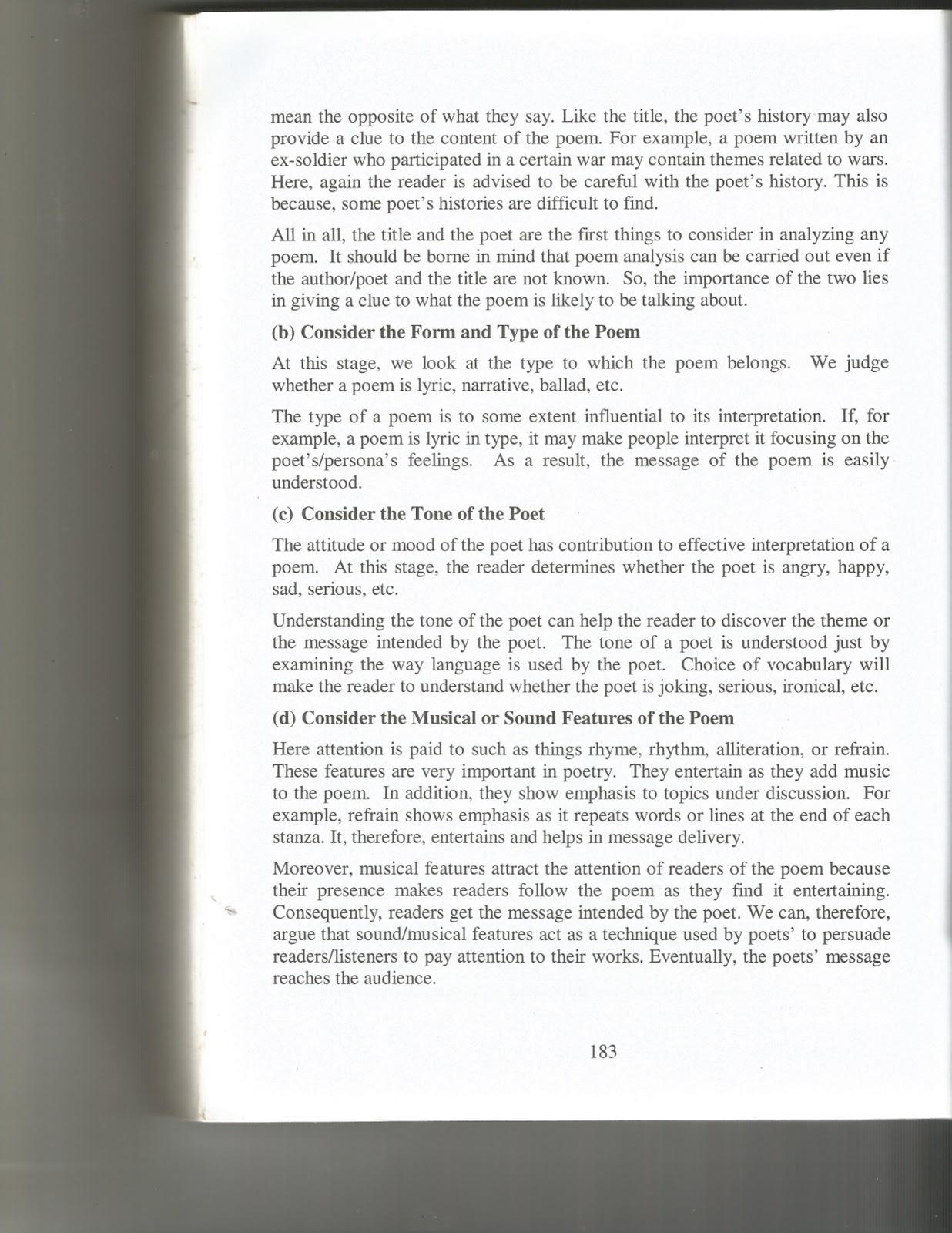 Mwl Japhet Masatu Blog What Is Poetry Form 3 4