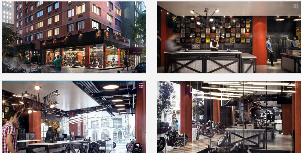 architizer harley davidson store in nyc - a degree of freedom