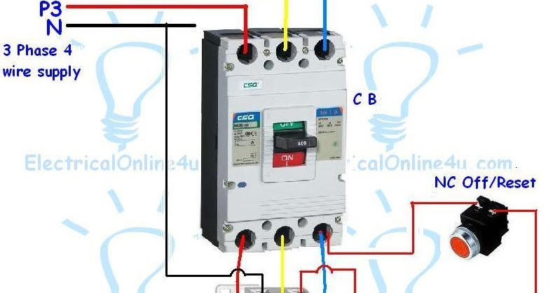 contactor wiring diagram for 3 phase motor with overload