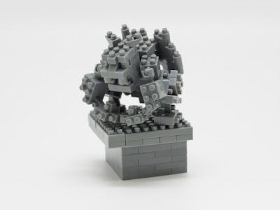 ナノブロック で作った ガーゴイル