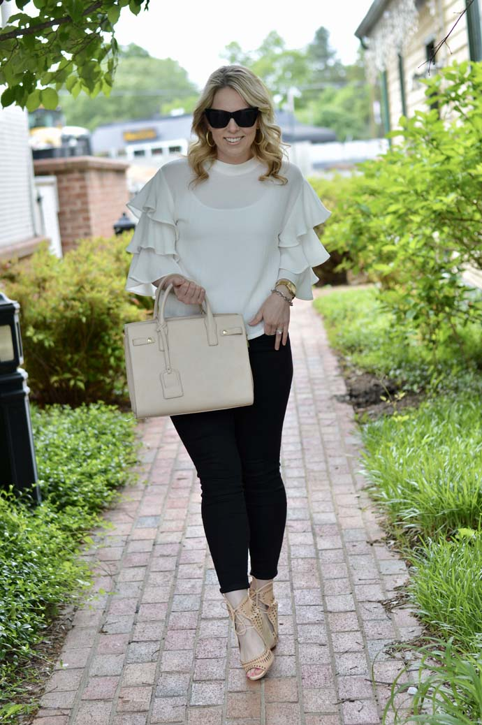 Spring Ruffle Top Outfit