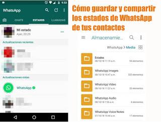 WhatsApp: Como guardar o compartir estados de contactos fácilmente