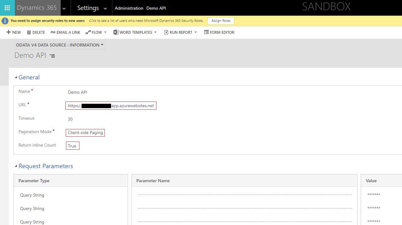 Dynamics 365 v9 Virtual Entity using OOB OData v4 Provider