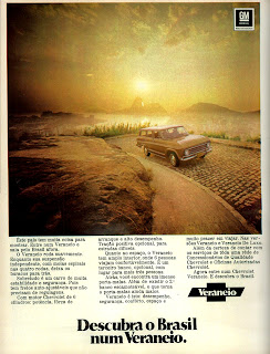 propaganda Veraneio - 1971, Chevrolet in the 70s, 1971; brazilian advertising cars in the 70s; os anos 70; história da década de 70; Brazil in the 70s; propaganda carros anos 70; Oswaldo Hernandez;.