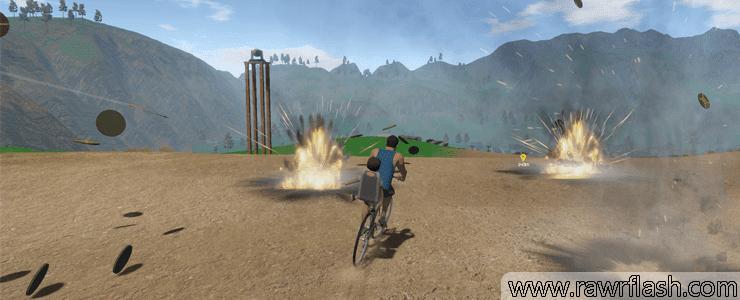 Jogos em 3D, novo happy wheels, jogo grátis, corrida, click jogos, poki, pai e filho na bicicleta: Happy Wheels em 3D! Guts and Glory!