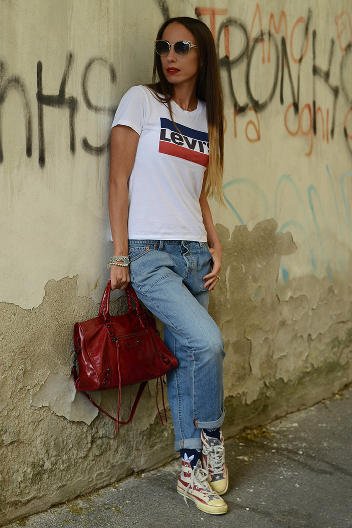 total look levi's