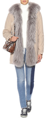 MR & MRS ITALY Cotton parka with fur lining
