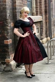 Harley Quinn 50's cocktail/prom dress