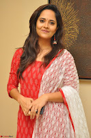 Anasuya Bharadwaj in Red at Kalamandir Foundation 7th anniversary Celebrations ~  Actress Galleries 035.JPG