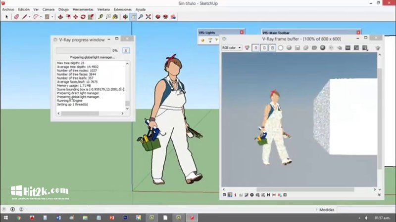 Vray 2.0 for SketchUp 2016 Full with Crack Free Download