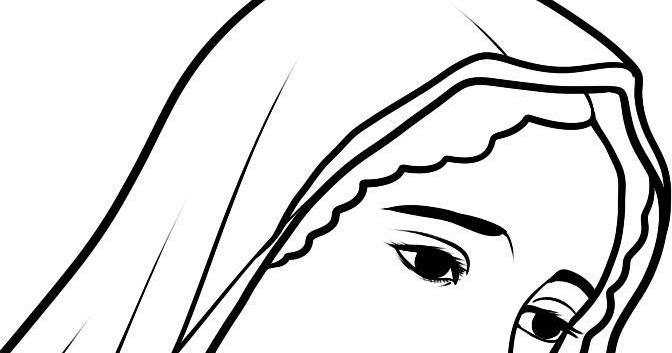 Welcome: Art Line Drawing ~ How to Draw Mary (Virgin Mary