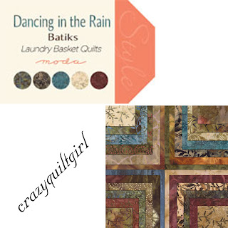 Moda DANCING IN THE RAIN BATIKS Quilt Fabric by Laundry Basket Quilts