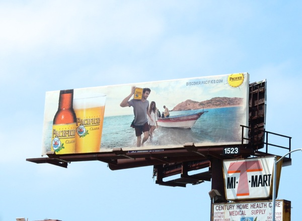 Pacifico Clara Beer boat billboard