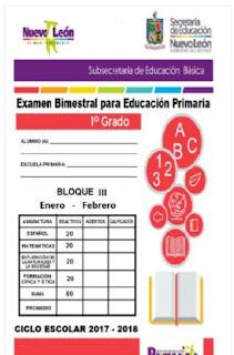 1° grado Examen Bimestral Primaria