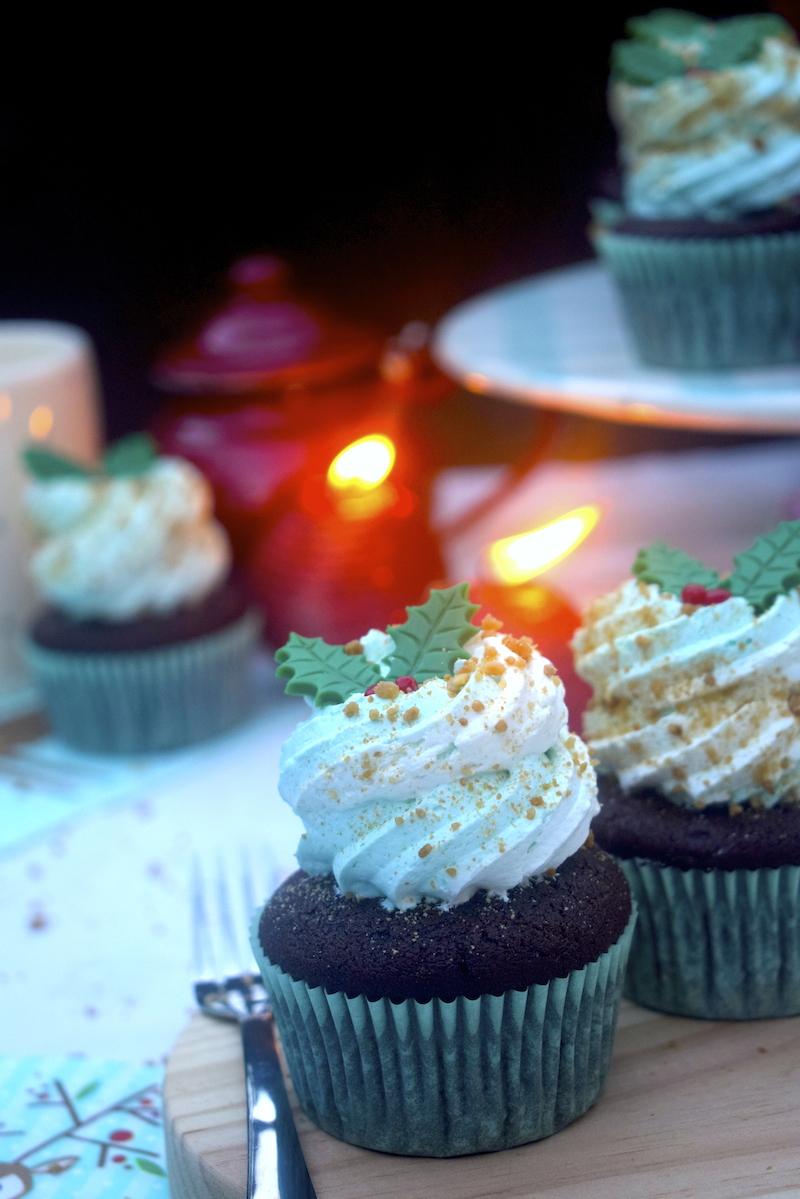 Cupcakes de turrón de Jijona y chocolate