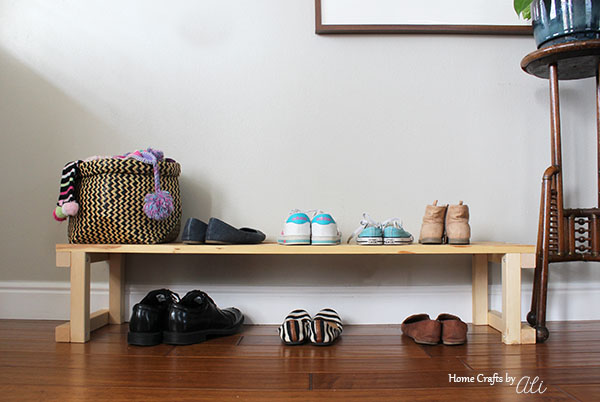 easy to build shoe organizer bench