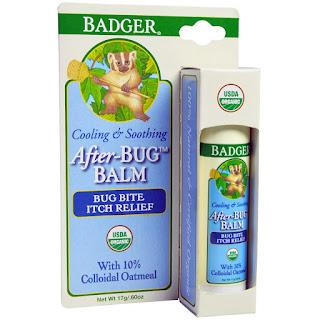 كريم علاج لسعات الحشرات  Badger Company, After-Bug Balm, .60 oz (17 g)