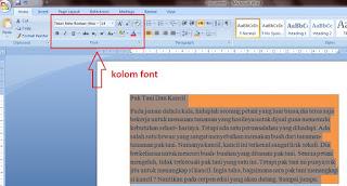 Pengaturan Dan Fungsi Dasar Microsoft Word 2007