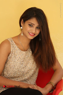 Tollywood Upcoming Actress Arthi Stills in Black Skirt at Plus 1 Movie Trailer Launch  0076.JPG