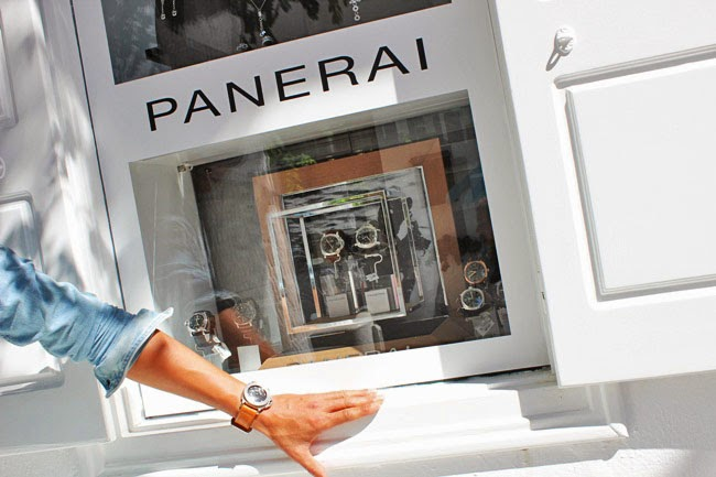 Panerai watches Mykonos island