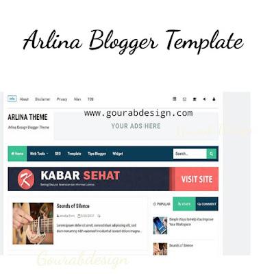 Arlina Blogger Template Premium And Latest Version