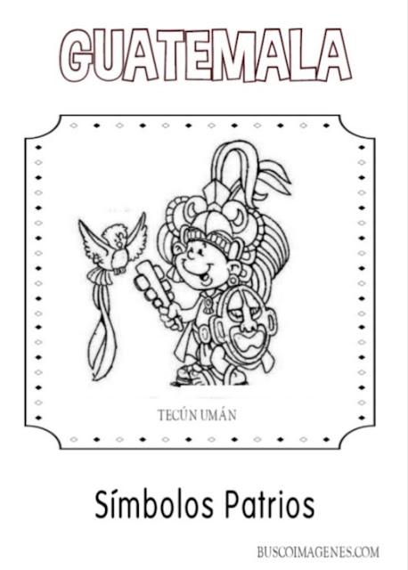 Descarga gratis dibujos de  Tecún Umán para colorear