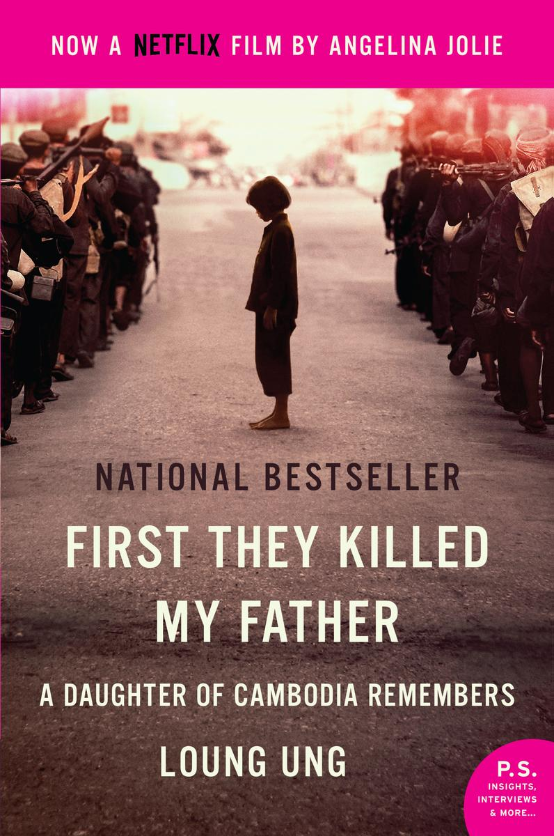Capa First They Killed My Father A Daughter of Cambodia Remembers Torrent Dublado 720p 1080p 5.1 Baixar
