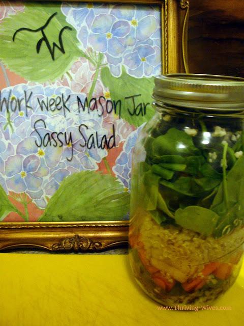 Work Week Mason Jar Salads