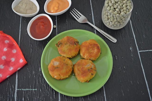 Green Peas Cutlet Recipe | Pachai Patani Cutlet | Matar Cutlet