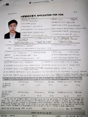 102_2026 Visa Application Form For Korea In Stan on
