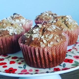 gluten free banana berry muffin