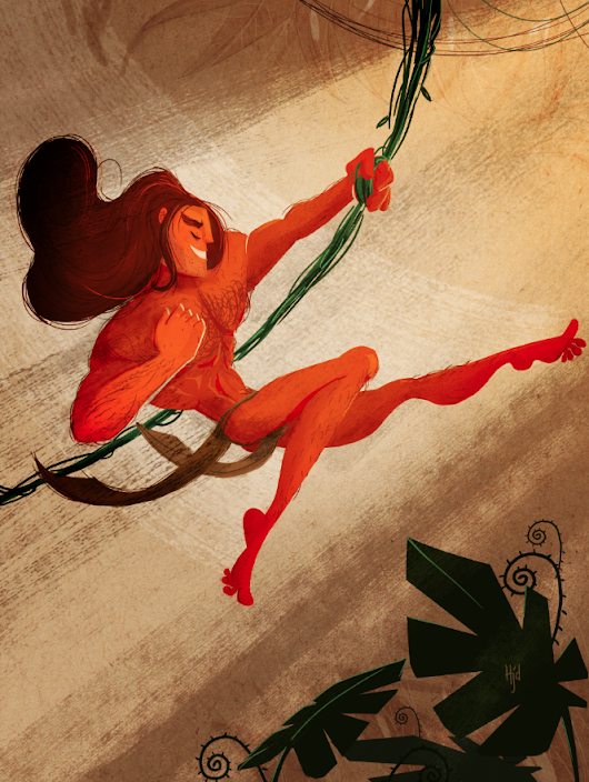 Sketch Dailies: Tarzan Colored