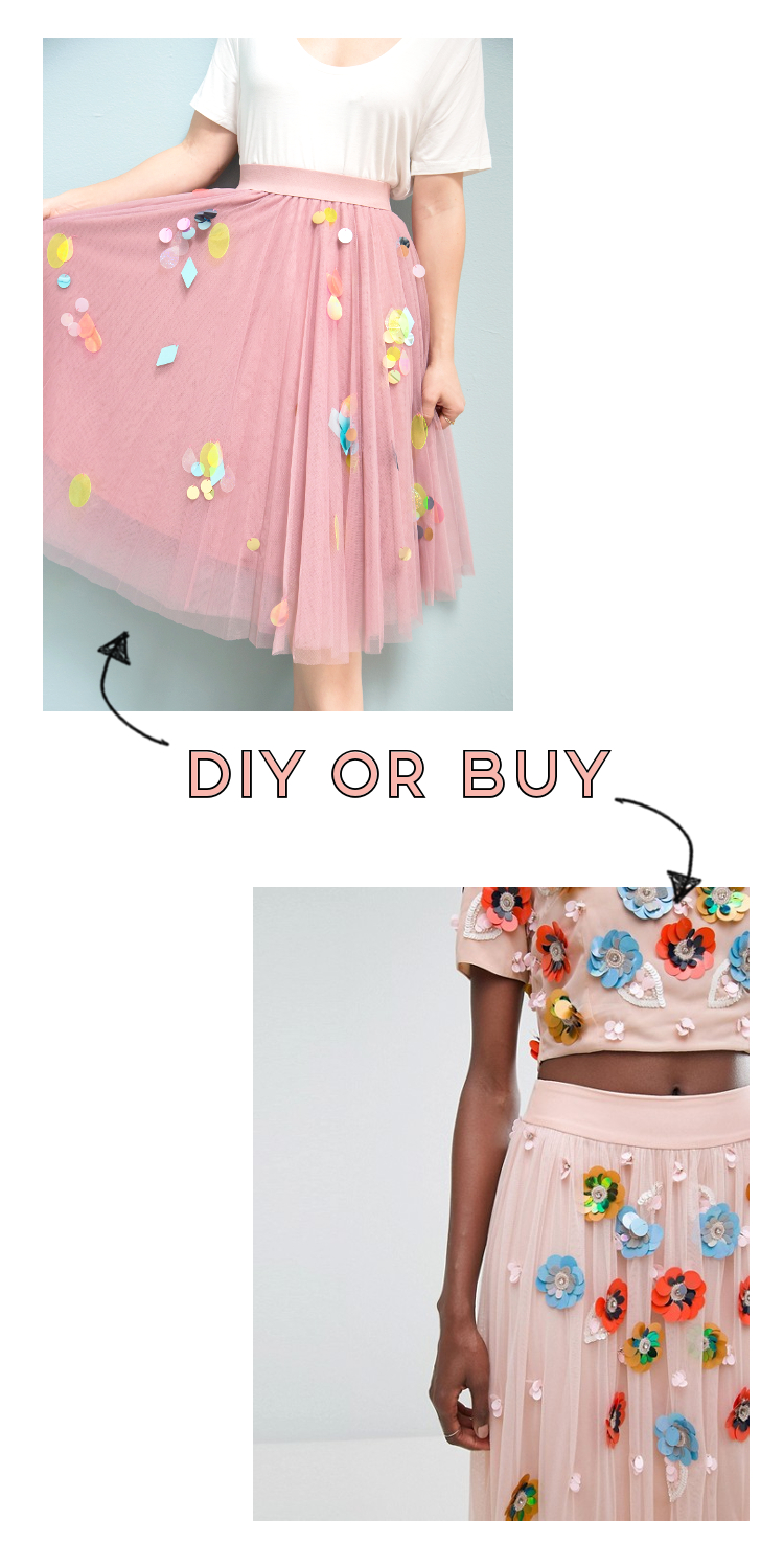 DIY OR BUY - SEQUIN SKIRT.