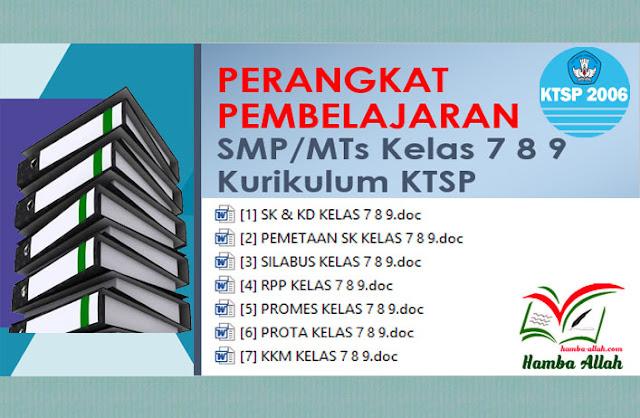 Kumpulan Perangkat Pembelajaran KTSP Lengkap Untuk SMP dan MTs