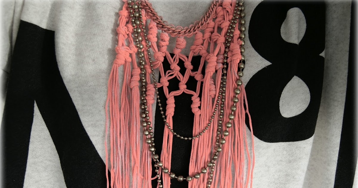 Neon Fringe Statement Necklace
