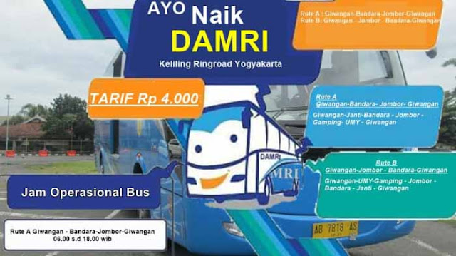 Jadwal Bus Damri Yogyakarta