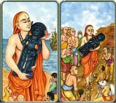 shri Madhvacharya with Krishna