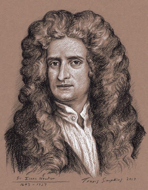 Sir Isaac Newton. 1643-1727. Physicist, Astronomer, Alchemist, Philosopher. by Travis Simpkins