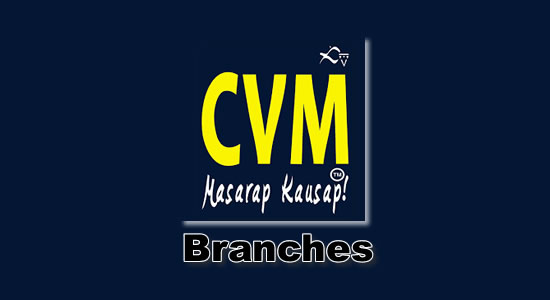 List of CVM Pawnshop Branches nationwide