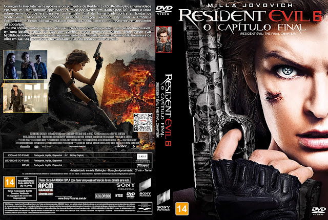Capa DVD Resident Evil 6 O Capítulo Final [Custom]