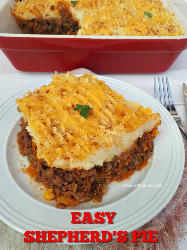 Hearty, vegetable loaded Shepherd's Pie is comfort food !