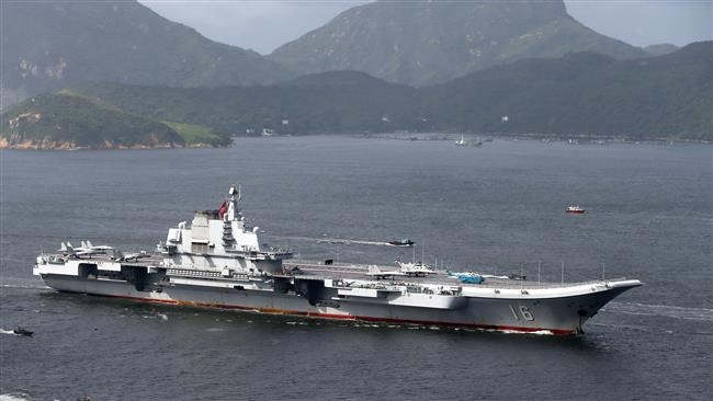 China's aircraft carrier Liaoning arrives in Hong Kong