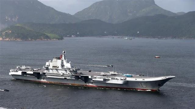 China's aircraft carrier Liaoning arrives in Hong Kong