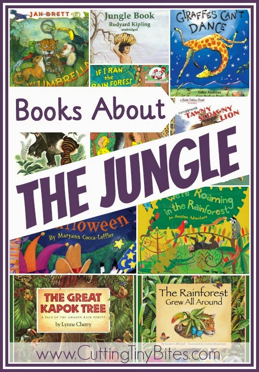 Children's book list of jungle and rainforest books. Reviews of each. Choices for babies, toddlers, preschoolers, and elementary aged children.