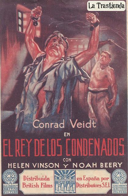 Programa de Cine - El Rey de los Condenados - Conrad Veidt - Helen Vinson